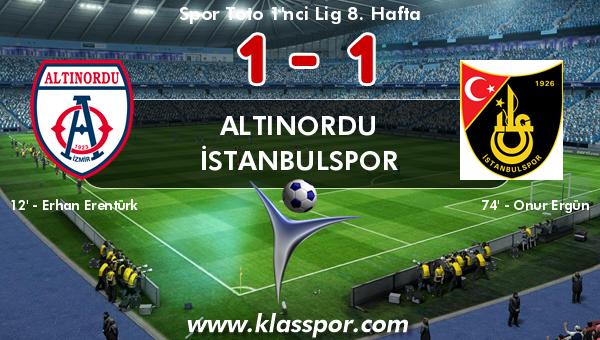 Altınordu 1 - İstanbulspor 1