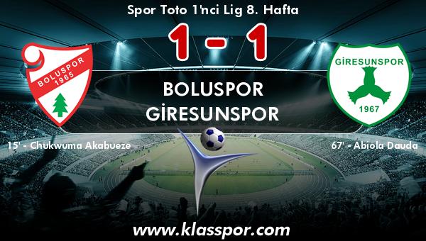 Boluspor 1 - Giresunspor 1