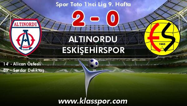 Altınordu 2 - Eskişehirspor 0