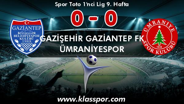 Gazişehir Gaziantep FK 0 - Ümraniyespor 0