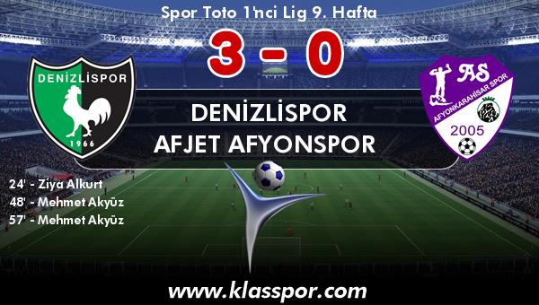 Denizlispor 3 - Afjet Afyonspor  0