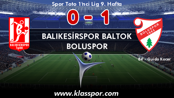 Balıkesirspor Baltok 0 - Boluspor 1