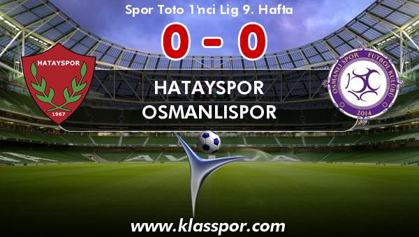 Hatayspor 0 - Osmanlıspor 0