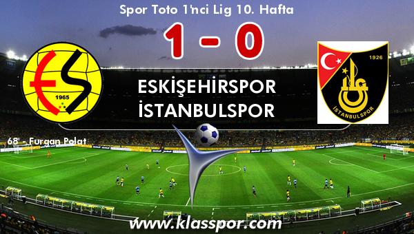 Eskişehirspor 1 - İstanbulspor 0