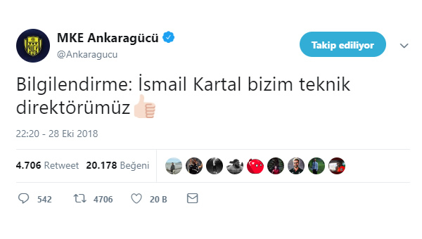 Ankaragücü, Sosyal medya'da da golü attı...