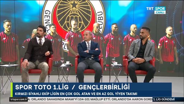 Erkan Sözeri ve Selçuk Şahin TRT'de 1.Lig gündeminin konuğu oldu