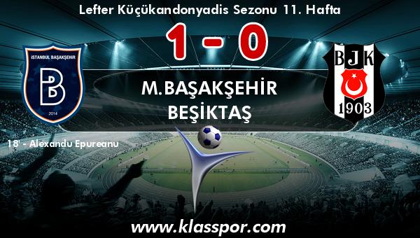 M.Başakşehir 1 - Beşiktaş 0