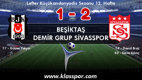 Beşiktaş 1 - Demir Grup Sivasspor 2