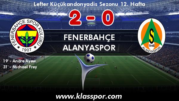 Fenerbahçe 2 - Alanyaspor 0