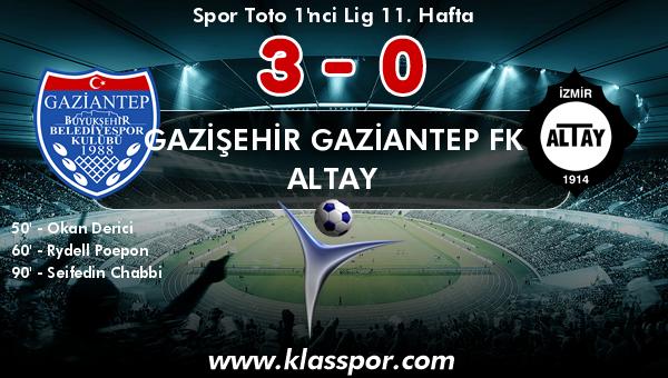 Gazişehir Gaziantep FK 3 - Altay 0
