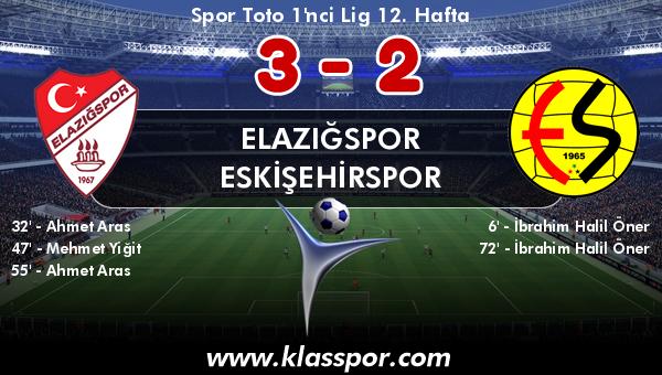Elazığspor 3 - Eskişehirspor 2