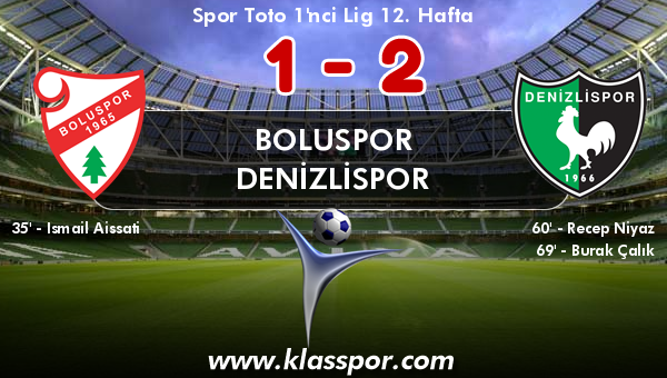 Boluspor 1 - Denizlispor 2