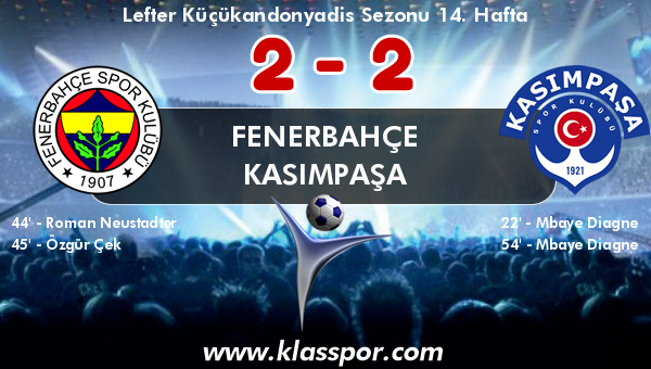 Fenerbahçe 2 - Kasımpaşa 2