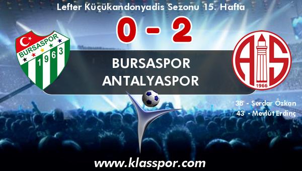 Bursaspor 0 - Antalyaspor 2