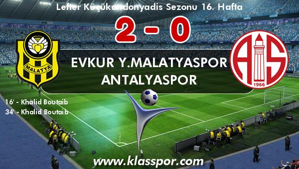 Evkur Y.Malatyaspor 2 - Antalyaspor 0
