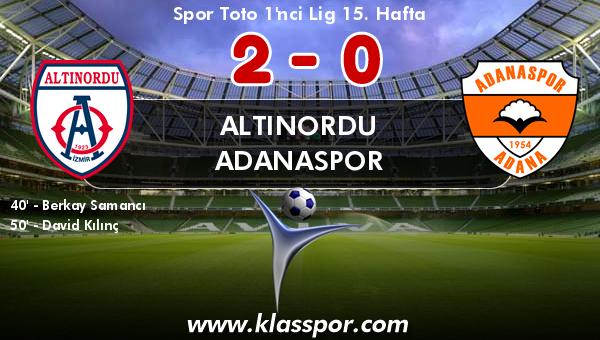 Altınordu 2 - Adanaspor 0