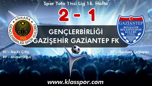 Gençlerbirliği 2 - Gazişehir Gaziantep FK 1