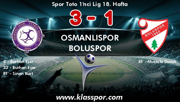 Osmanlıspor 3 - Boluspor 1