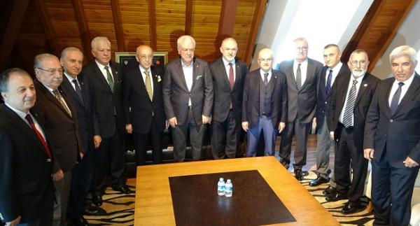 Şampiyon kulüplerin divan başkanları buluştu