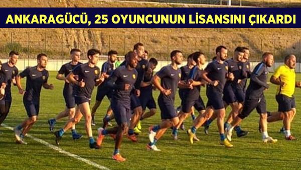 Ankaragücü, 25 oyuncunun lisansını çıkardı