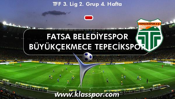 Fatsa Belediyespor  - Büyükçekmece Tepecikspor