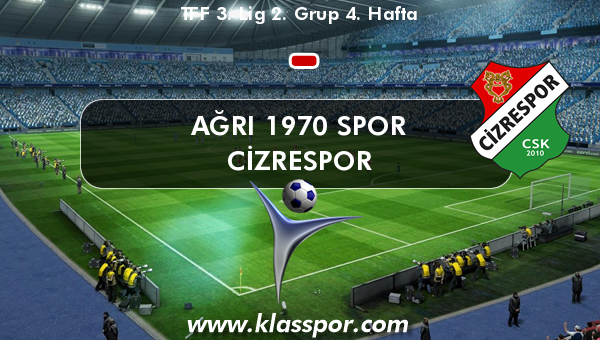 Ağrı 1970 Spor  - Cizrespor