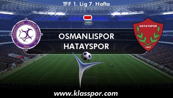 Osmanlıspor  - Hatayspor