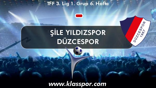 Şile Yıldızspor  - Düzcespor