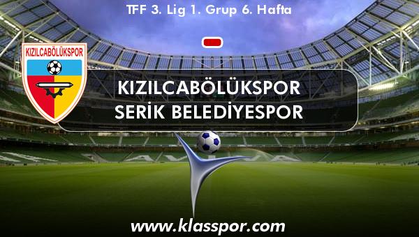 Kızılcabölükspor  - Serik Belediyespor