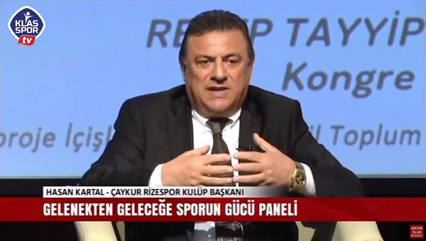 Hasan Kartal, Sporun Gücü panelinde konuştu.