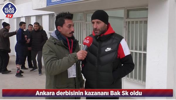 Ankara derbisini Bakspor kazandı