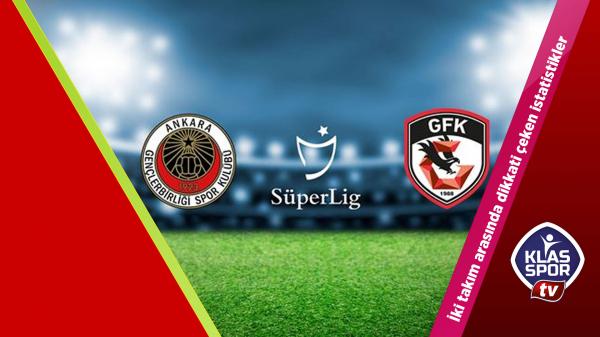Gençlerbirliği - Gaziantep FK istatistikleri