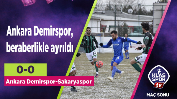 Ankara Demirspor, beraberlikle ayrıldı