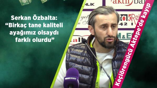 Keçiörengücü - Boluspor maçı sonrası Teknik Direktör açıklamaları