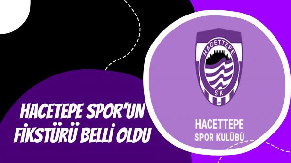 Hacettepe Spor'un fikstürü belli oldu