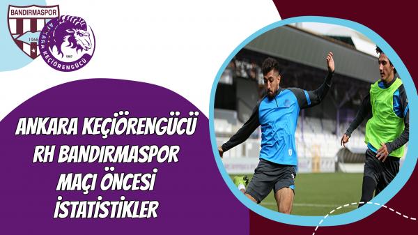 Ankara Keçiörengücü - RH Bandırmaspor maçı öncesi istatistikler
