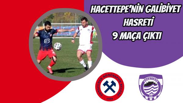 Hacettepe'nin galibiyet hasreti 9 maça çıktı