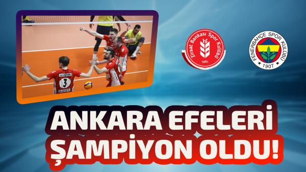 AXA Sigorta Efeler Ligi'nde şampiyon Ziraat Bankkart !
