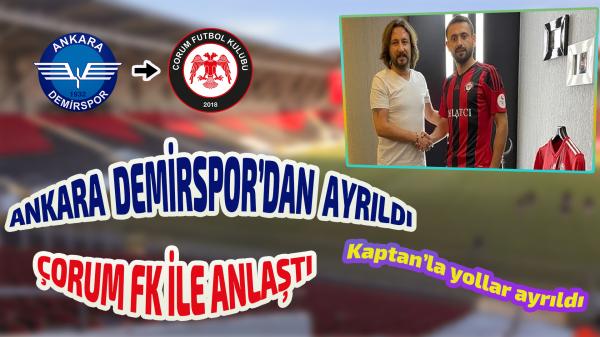 Ankara Demirspor'dan kaptanına veda!