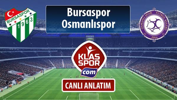 İşte Bursaspor - Osmanlıspor maçında ilk 11'ler