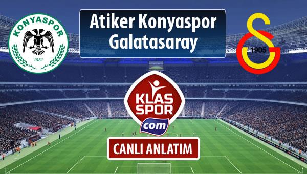 İşte Atiker Konyaspor - Galatasaray maçında ilk 11'ler