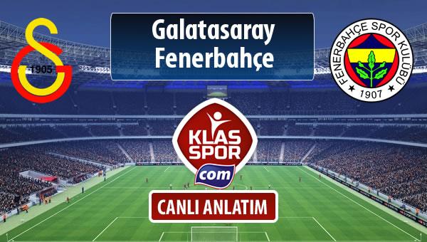 İşte Galatasaray - Fenerbahçe maçında ilk 11'ler