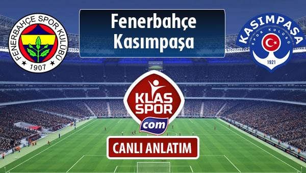 Fenerbahçe - Kasımpaşa maç kadroları belli oldu...
