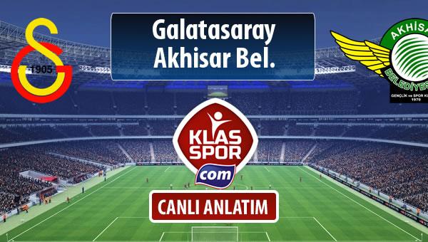 İşte Galatasaray - Akhisar Bel. maçında ilk 11'ler