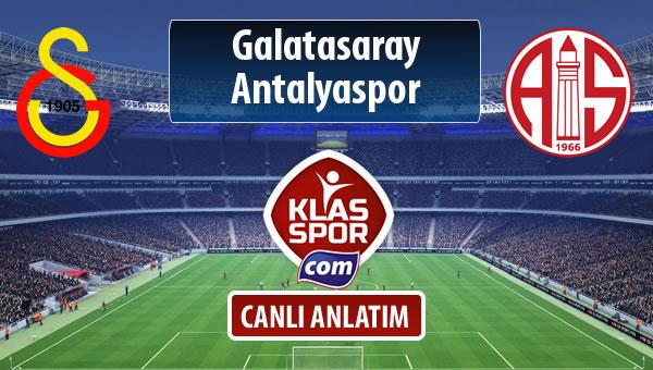 İşte Galatasaray - Antalyaspor maçında ilk 11'ler