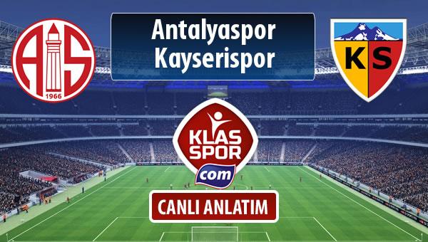 Antalyaspor - Kayserispor maç kadroları belli oldu...