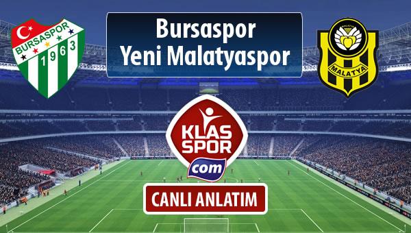 İşte Bursaspor - Evkur Y.Malatyaspor maçında ilk 11'ler