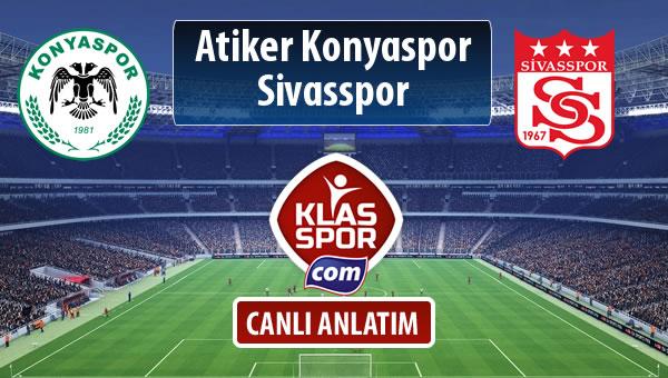 Atiker Konyaspor - Demir Grup Sivasspor sahaya hangi kadro ile çıkıyor?