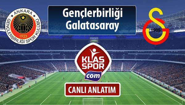 Gençlerbirliği - Galatasaray maç kadroları belli oldu...