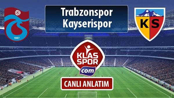 Trabzonspor - Kayserispor maç kadroları belli oldu...